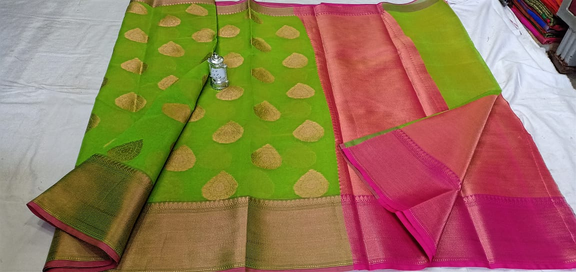 Banarasi Cotton Soft Silk Sarees 1
