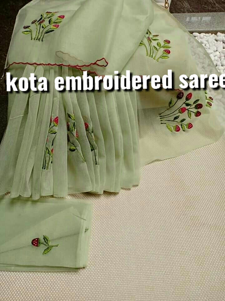 Kota Embroidery Saree 1