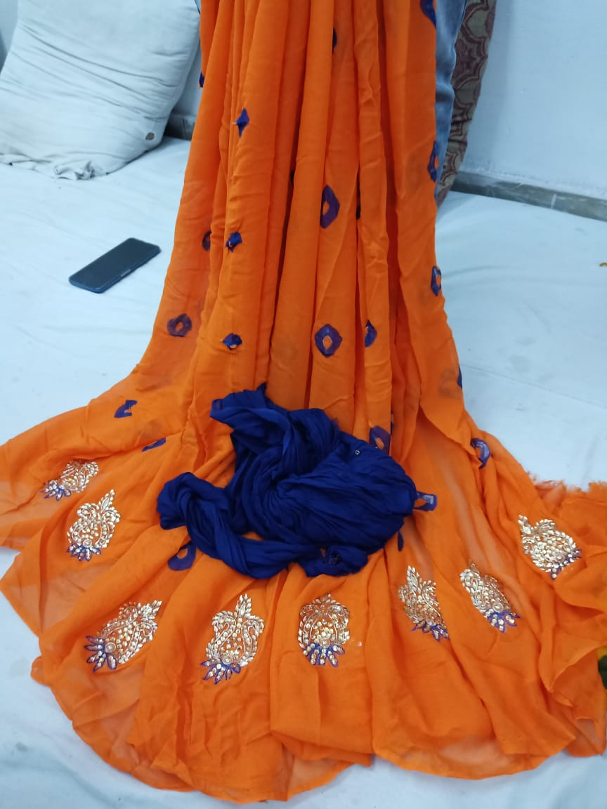 Beautiful Georgette Saree 1