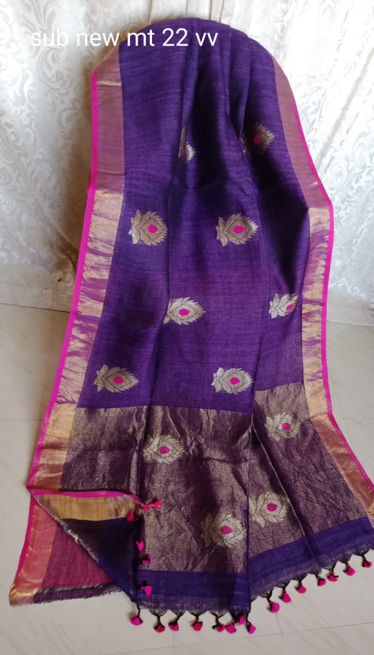 New Arrival Linen Saree 1