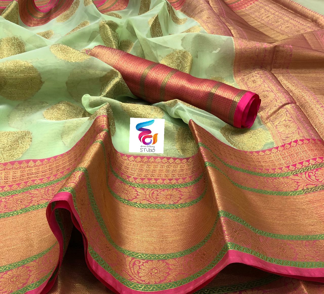 Light Weight Fashion Silk Saree 3