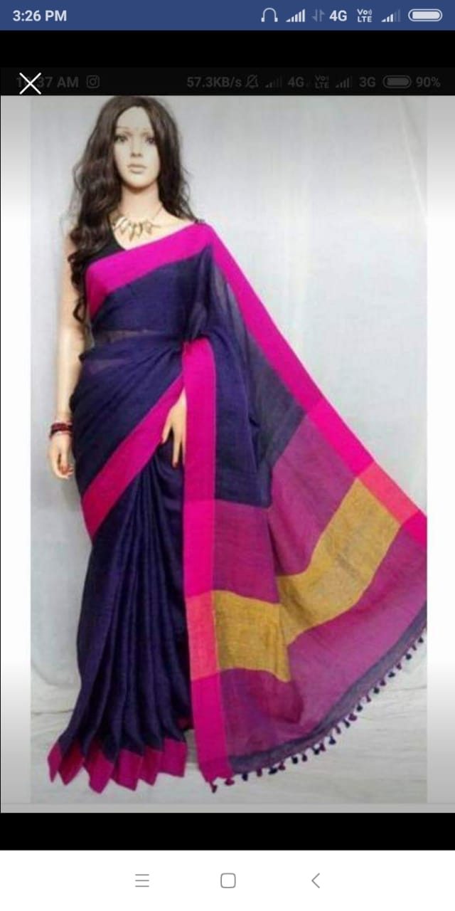 Pure khadi Cotton Sarees 1