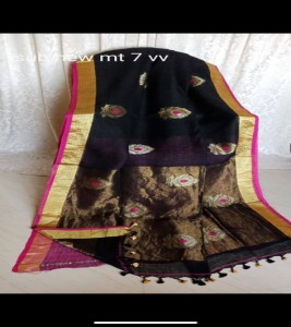 New Arrival Linen Saree