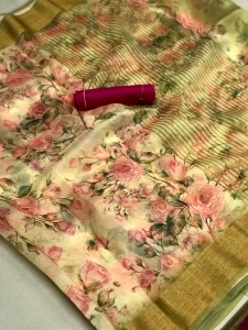 Latest Organza Silk Saree