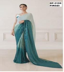 Beautiful Pure 3D Effect Designer Saree