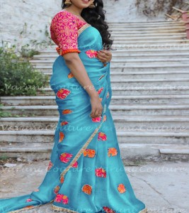 Chenderi cotton designer saree