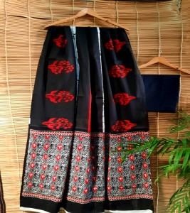 Pure Cotton mulmul hand block print Sari