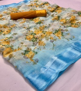 Exclusive Linen Fancy Saree